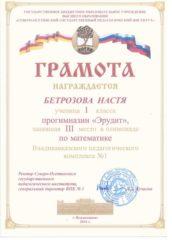 Бетрозова Настя
