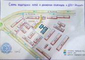 Схема подъездных путей движения пешеходов к ДОУ Эрудит