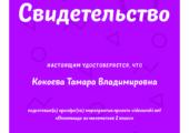 Свидетельство об участии в Олимпиаде по математике видеоурок
